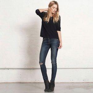 Rag & Bone Ripped Skinny Hampstead Jeans